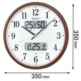 KX383B セイコークロック 電波掛け時計 温度 湿度表示付き [KX383B]【返品種別A】