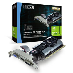GD730-1GERL エルザ PCI-Express 2.0 x16対応 グラフィックスボードELSA GeForce GT 730 LP 1GB [GD7301GERL]【返品種別B】