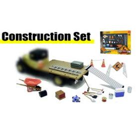 1/24 Construction Set(セメント、トラックランプ、ロードサイン、コーン、他)【HB18425】 HOBBYGEAR