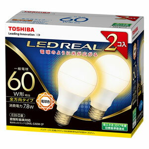 LDA8L-G/60W-2P 東芝 LED電球 一般電球形 810lm(電球色相当)【2個セット】 TOSHIBA E-CORE(イー・コア)全方向タイプ