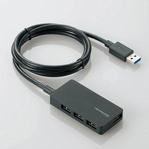 U3H-A408SBK エレコム USB3.0対応ACアダプタ付き4ポートUSBハブ(ブラック) [U3HA408SBK]【返品種別A】