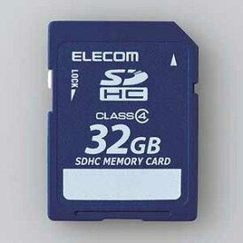 MF-FSD032GC4R エレコム SDHCメモリーカード 32GB Class4