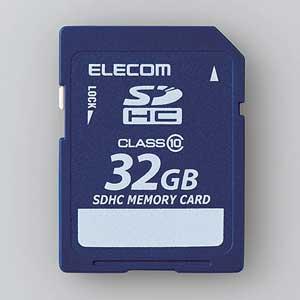 MF-FSD032GC10R エレコム SDHCメモリーカード 32GB Class10