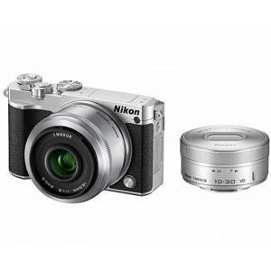 N1J5-WLK-SL ニコン Nikon 1 J5 ダブルレンズキット(シルバー) [N1J5WLKSL]【返品種別A】【送料無料】