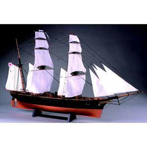 1/75 木製帆船模型 咸臨丸(帆付) 木製組立キット ウッディジョー