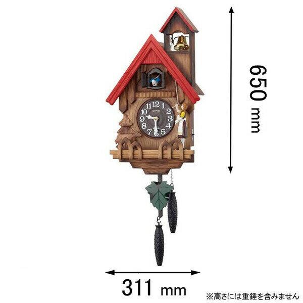 カッコーチロリアンR リズム時計 掛時計 4MJ732RH06 [カツコチロリアンR]【返品種別A】
