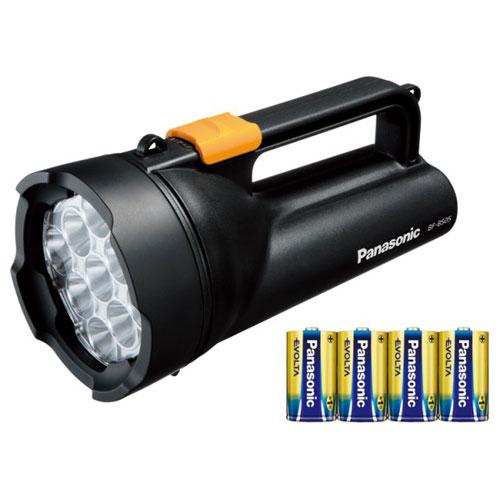 BF-BS05K-K パナソニック LED懐中電灯(ブラック)335ルーメン Panasonic 乾電池エボルタ付き ワイドパワーLED強力ライト