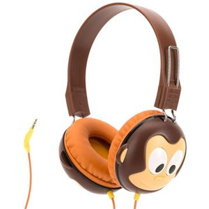 GC40290 グリフィン キッズヘッドフォン(ブラウン) Griffin Technology KaZoo MyPhones Volume-Limiting Headphones for Kids Monkey