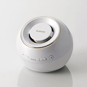 LBT-SPWP200WH エレコム Bluetooth対応ワイヤレススピーカーシステム(ホワイト) ELECOM 光る防水スピーカー [LBTSPWP200WH]【返品種別A】