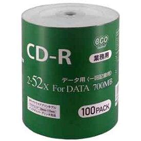 CR80GP100_BULK マグラボ データ用52倍速対応 CD-R 100枚パック700MB ホワイトプリンタブル