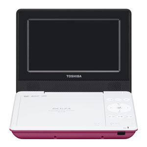 SD-P710SP 東芝 7型ポータブルDVDプレーヤーピンクCPRM対応 TOSHIBA REGZA レグザポータブルプレーヤー