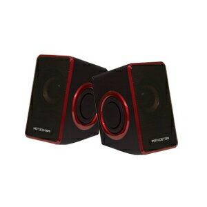 PSP-DPRR プリンストンテクノロジー デュアルパッシブラジエーター搭載USB電源スピーカー(レッド) Speaker with Dual Passive Radiator [PSPDPRR]【返品種別A】