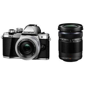 OM-D E-M10MK2WZK SLV オリンパス デジタル一眼カメラ「OM-D E-M10 MarkII」 ダブルズームキット(シルバー) [OMDEM10MK2WZKSLV]【返品種別A】【送料無料】