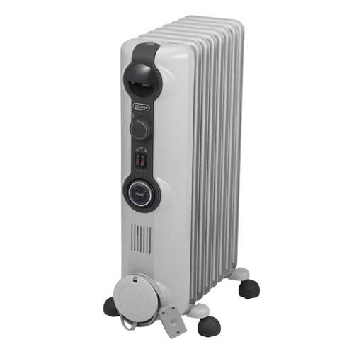 HJ0812 デロンギ オイルヒーター(8〜10畳 ホワイト+ミディアムグレー) 【暖房器具】De'Longhi [HJ0812]【返品種別A】【送料無料】