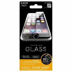 PM-A15LFLGG03 エレコム iPhone 6s Plus用ガラスフィルム(ガラス厚0.33mm)