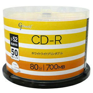 ALCR52X50PW ALL-WAYS データ用52倍速対応CD-R 50枚パック700MB ホワイトプリンタブル [ALCR52X50PW]【返品種別A】