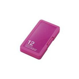 CMC-SDCPP12PN エレコム メモリカードケース SD6枚+microSD6枚収納(ピンク) ELECOM CMC-SDCPP12シリーズ