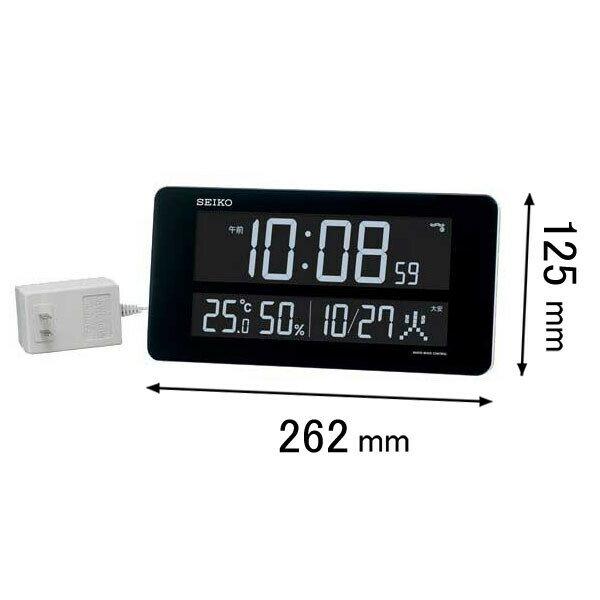 DL208W セイコークロック デジタル電波時計 シリーズC3 [DL208W]【返品種別A】