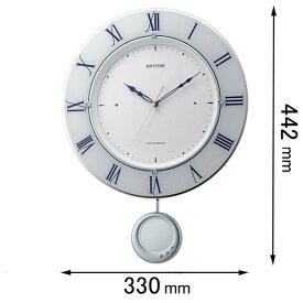 8MX402SR03 リズム 電波掛け時計 [トライメテオ03]【返品種別A】