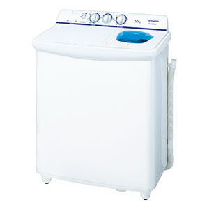 (標準設置料込)PS-55AS2-W 日立 5.5kg 2槽式洗濯機 ホワイト HITACHI 青空