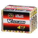 LR6/S20P/V オーム アルカリ乾電池単3形 20本パック OHM Vアルカリ乾電池