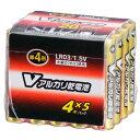 LR03/S20P/V オーム アルカリ乾電池単4形 20本パック OHM Vアルカリ乾電池 [LR03S20PV079950]