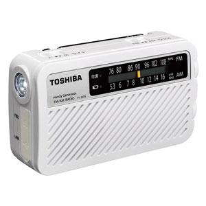 TY-JKR5-W 東芝 手回し充電ワイドFMラジオ(ホワイト) TOSHIBA