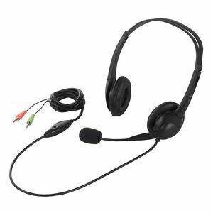 BSHSH07-BK バッファロー 両耳ヘッドバンド式ヘッドセット 半密閉タイプ [BSHSH07BK]【返品種別A】