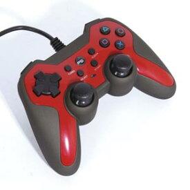 【PS3】ラバーコートコントローラーターボ2(レッド×ブラック) アクラス [SASP-0291]
