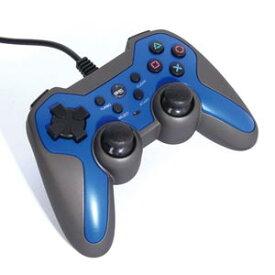 【PS3】ラバーコートコントローラーターボ2(ブルー×ブラック) アクラス [SASP-0292]