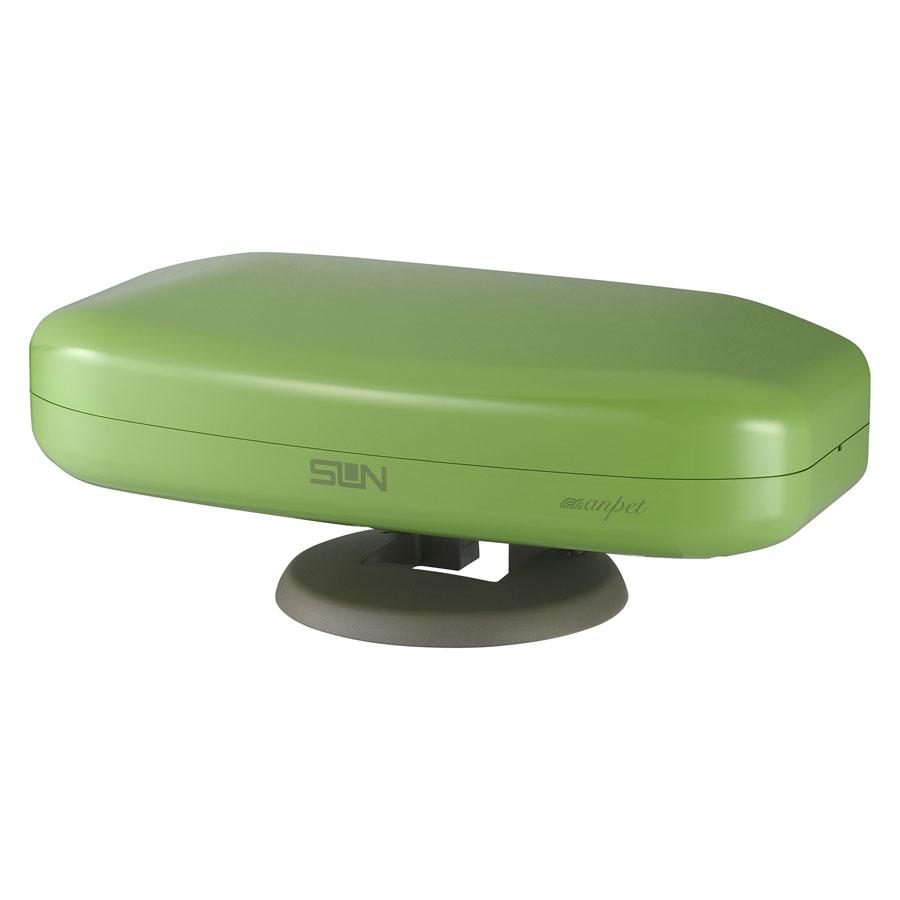 SDA-5-1-AG サン電子 地上デジタルアンテナ(アップルグリーン)【5素子相当】 室内外兼用