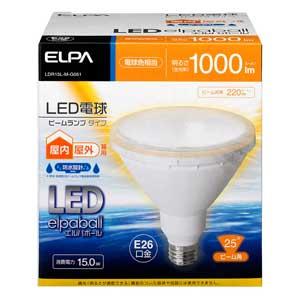 LDR15L-M-G051 ELPA LED電球 ビームランプタイプ 1000lm(電球色相当) elpaballmini [LDR15LMG051]【返品種別A】