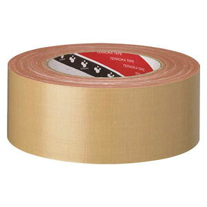14138X25 寺岡製作所 布粘着テープ 幅38mm×長さ25m(ダンボール色)1巻 TERAOKA NO.141 オリーブテープ