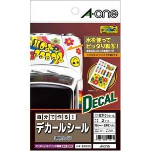 自分で作るデカールシール 透明タイプ はがきサイズ(2セット) 【81024】 エーワン