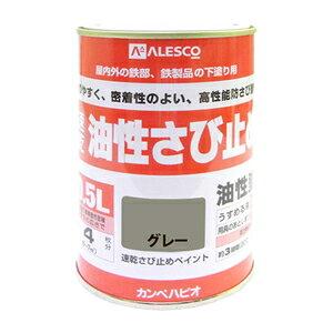 NO10800505 カンペハピオ 速乾錆止めペイント 0.5L(グレー) ALESCO