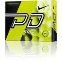 GL0724-701【税込】 ナイキ パワーディスタンスソフト ゴルフボール 1ダース 12個入り(イエローボール/ブラックスウッシュ) Nike POWEDI...