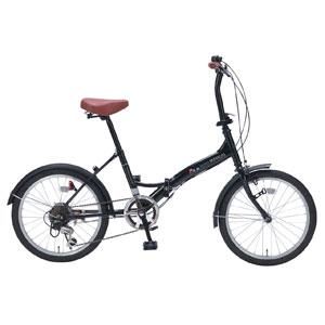 M-209 マイパラス 折りたたみ自転車 20インチ 6段変速(ブラックパール) MYPALLAS [M209ブラツク]【返品種別B】