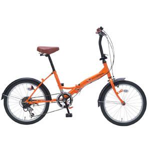 M-209 マイパラス 折りたたみ自転車 20インチ 6段変速(オレンジ) MYPALLAS [M209オレンジ]【返品種別B】