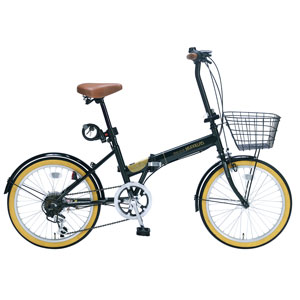 M-252-GR マイパラス 折りたたみ自転車 20インチ 6段変速 オールインワン(ダークグリーン) MYPALLAS [M252GR]【返品種別B】