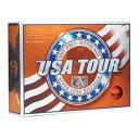 USA TOUR OR USA ツアーディスタンス +α ゴルフボール 1ダース 12球入り(オレンジ) USA TOUR DISTANCE +α 12P ORANGE