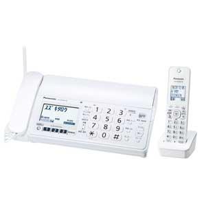 KX-PZ200DL-W パナソニック デジタルコードレス普通紙FAX(子機1台付き) ホワイト Panasonic おたっくす [KXPZ200DLW]【返品種別A】