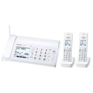 【エントリーでP5倍 8/20 9:59迄】KX-PZ200DW-W パナソニック デジタルコードレス普通紙FAX(子機2台付き) ホワイト Panasonic おたっくす