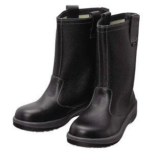 7544N27.0 シモン 安全靴 半長靴 黒 27.0cm
