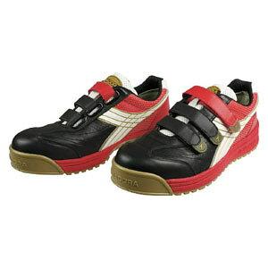 RB213250 ドンケル 安全作業靴 ロビン 黒/白/赤 25.0cm DIADORA