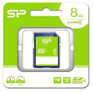 SP-SDHC8GB4 シリコンパワー SDHCメモリカード 8GB Class4