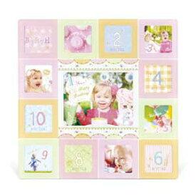 KP-31296 キシマ パーティー ベビーフレーム (定形外×12、ポストカード(L)判×1)(ピンク) PARTY BABY FRAME Pink
