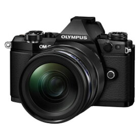 E-M5-MK2-1240K(BLK) オリンパス ミラーレス一眼カメラ「OM-D E-M5 MarkII」12-40mm F2.8レンズキット(ブラック)