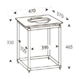 ALT-S12T アンダンテラルゴ 1段オーディオラック【受注生産品】 ANDANTE LARGO Rigid Table Silence