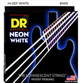 NWB-45 DR エレキベース弦(MEDIUM .045-.105)NEON Hi-Def WHITEシリーズ DR Strings