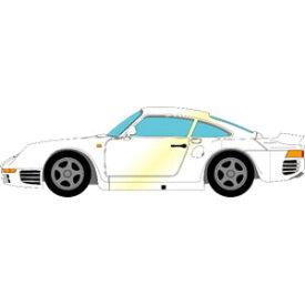 1/43 Porsche 959 S 1987 パールホワイト【EM354C】 メイクアップ
